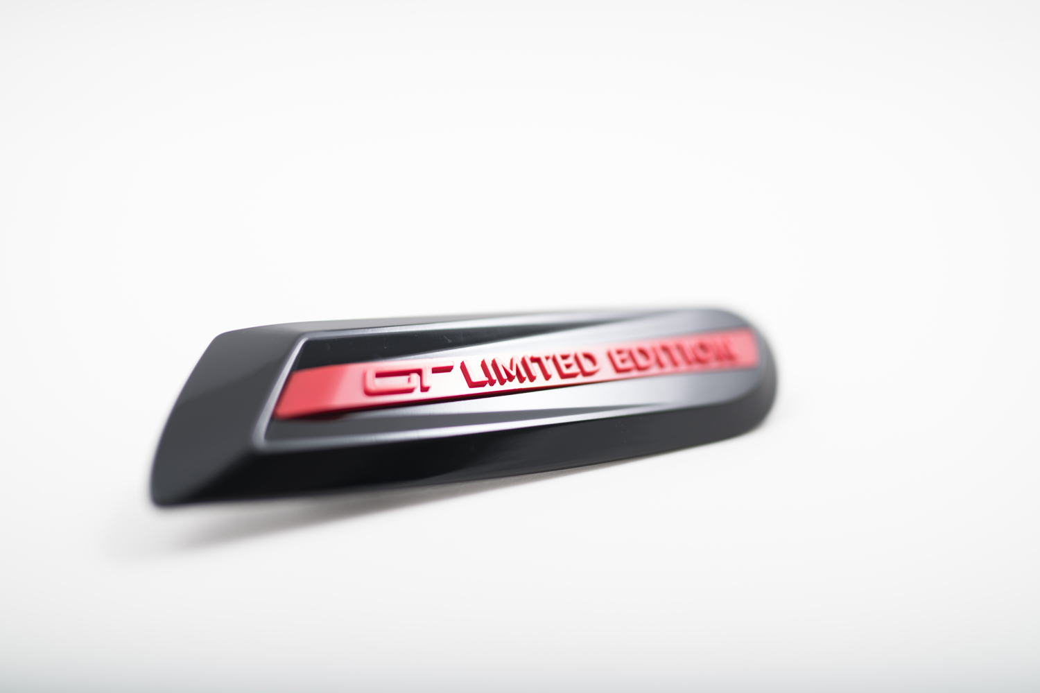 Plastic injection moulded badge for Mini's GT LIMITED EDITION