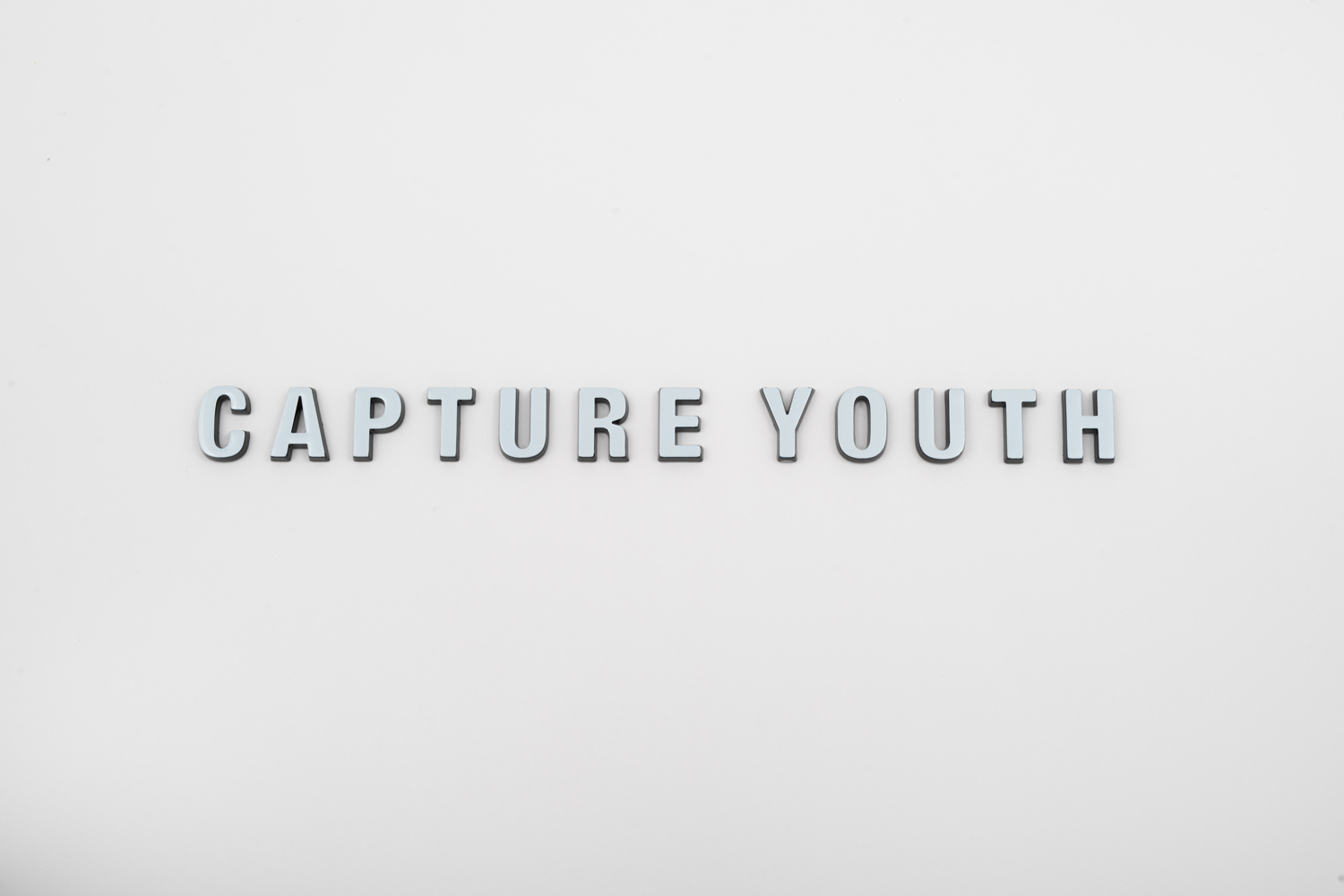 Black and white 3D logo capture youth
