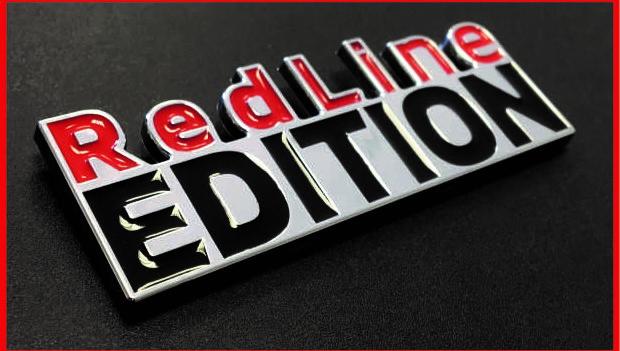 Chromed acronym RED LINE